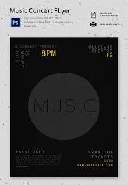 concert flyer psd format premium dark music concert flyer template
