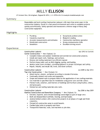 best construction labor resume example livecareer create my resume