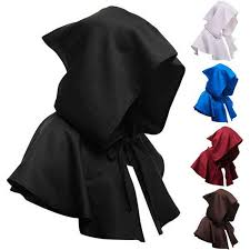 <b>Adults Hooded Cloak Gothic</b> Cosplay Vampire Devil Capes Unisex ...