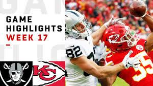 Raiders vs. Chiefs Week 17 Highlights | NFL 2018 - YouTube