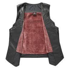 Men PU Leather Fleece Vest Autumn Winter Middle aged Fashion ...