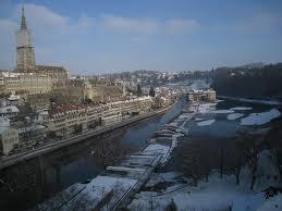 photo essay winter street scenes in bern the river aare runs through bern