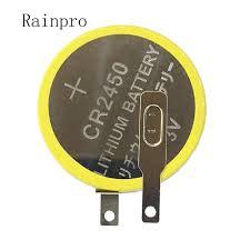 Rainpro 2PCS/<b>LOT</b> CR2450 Button Lithium battery 3V with weldding ...
