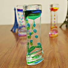 chicoco Double Colors Oil Hourglass Liquid Floating ... - Amazon.com