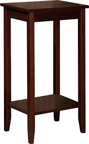 amazoncom dhp rosewood tall end table kitchen dining cherry veneer home furniture