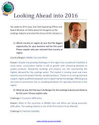 interview coo about the future of the paints and mecs 2016 organizers interviewed coo christophe sacy about the future of the paints and coatings industry