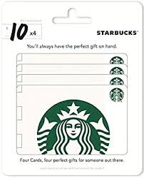 Starbucks Gift Cards, Multipack of 4 - $10: Gift Cards - Amazon.com