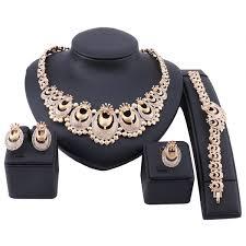 <b>Dubai Gold Color</b> Crystal <b>wedding Jewelry</b> Set Nigerian Wedding ...