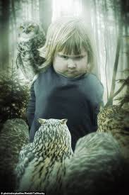 Girl holding an owl is turned into memes after a Photoshop battle ... via Relatably.com