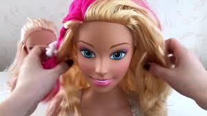 Барби Маникен <b>Прически</b>/<b>Barbie</b> Styling <b>Head</b> Make Up Set/ Putri ...