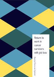 News   PhD Thesis Martine van Egmond  Return to work in cancer