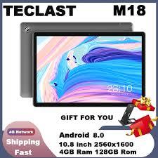 <b>Teclast M18 Tablet</b> 10.8 inch <b>4G</b> Phablet Helio X27 Android 8.0 ...
