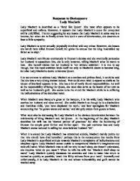 response to shakespeare lady macbeth   gcse english   marked by    page  zoom in