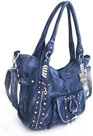 WFSM Denim <b>Women's Handbag</b> Casual Large Capacity <b>Bag</b> ...