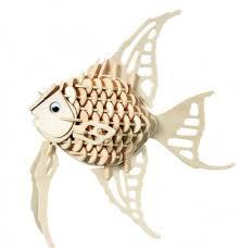 <b>Конструктор Wooden Toys</b> деревянный Ангельская рыбка H010 ...