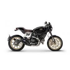 <b>Мотоцикл Scrambler Ducati</b> Cafe Racer с мотоциклистом ...