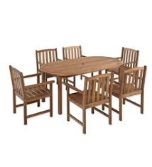 patio table and 6 chairs:  lancaster outdoor furniture collection eucalyptus wood oval table and  chairs wood patio table