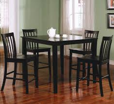 Tall Dining Room Set Awesome Black Color Wood Glass Simple Design Tall Table Set Black