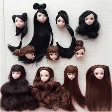<b>1Pcs 3D</b> Real <b>Eyes</b> Doll Head With Hair Doll Head Without <b>Makeup</b> ...