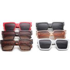 Fashion Large Thick Frame <b>Square Sunglasses Personality Wild</b> ...
