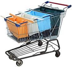Reusable Shopping Cart Bags and Grocery Organizer ... - Amazon.com