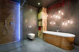 view in gallery stripped down industrial lighting coupled with stunning ambient lighting in the bathroom bedroom ambient lighting