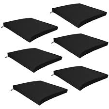 multipacks outdoor waterproof chair pads cushions only garden black patio chair cushions