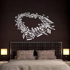 wall decal family art bedroom decor music note heart wall decal bedroom love wall decal music wall art bedroom living room