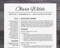 resume template cv template for word mac or pc professional resume design free cover letter creative modern teacher olivia modern professional resume templates