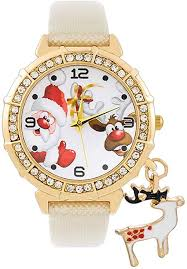 Souarts Womens <b>Christmas Elk</b> Charm Quartz Watch Artificial ...