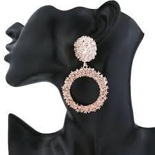 <b>Fashion Round</b> Alloy <b>Temperament Earrings</b> for Women Luxury ...