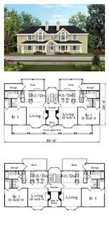 images about duplex multifamily house plans on Pinterest    Multi Family Plan has four units  each   bedroom and bathroom
