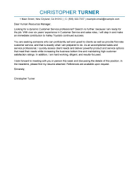 best customer service cover letter examples livecareer edit