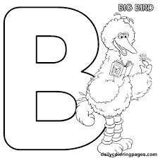 Small Picture b big bird alphabet letters to print full alphabet For Lizzie
