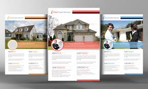 real estate flyer template flyer templates on creative market premium real estate flyer template