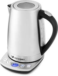 Купить <b>электрический чайник Kitfort</b> КТ-<b>645</b>, Металл по низкой цене