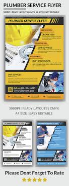 plumber service flyers by afjamaal graphicriver plumber service flyers corporate flyers