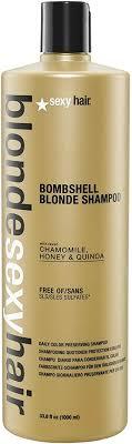 <b>Blonde Sexy Hair Sulfate</b>-<b>Free</b> Bombshell <b>Blonde</b> Shampoo litre ...