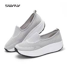 <b>SWYIVY Women's Sneakers Canvas</b> Breathable Ultra light 2018 ...