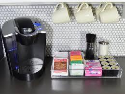 organized coffee station in kitchen unique diy coffee station