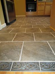 Gray Tile Kitchen Floor Kitchen Tile Floor Ideas