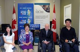 harper government supports the neil squire society to help society to see first hand how skills development is preparing canadians disabilities for employment and making a positive change in their lives
