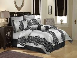 Silver Bedroom Accessories Black And White Damask Furniture Black And White Bedroom On