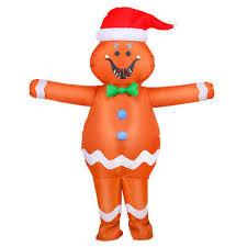 Adult <b>Inflatable Gingerbread Man</b> Costume <b>Halloween</b> Christmas ...