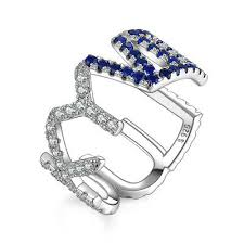<b>JewelryPalace</b> CZ LUCKY VII Letter Adjustable Open Ring 925 ...