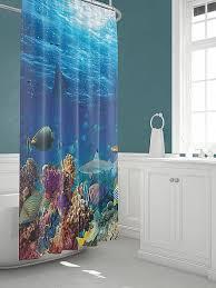Купить <b>Шторы для ванной</b> «Оусэ» синий/голуб. по цене 1640 руб ...