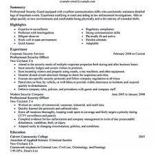 sample security guard supervisor resume security guard sample resume