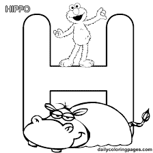 Small Picture Sesame Street Alphabet Free coloring pages Just Kiddos
