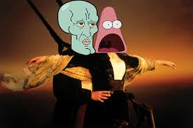 Surprised Patrick and Handsome Squidward | Surprised Patrick ... via Relatably.com