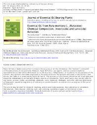 (PDF) Essential Oil from Ruta montana L. (Rutaceae) Chemical ...